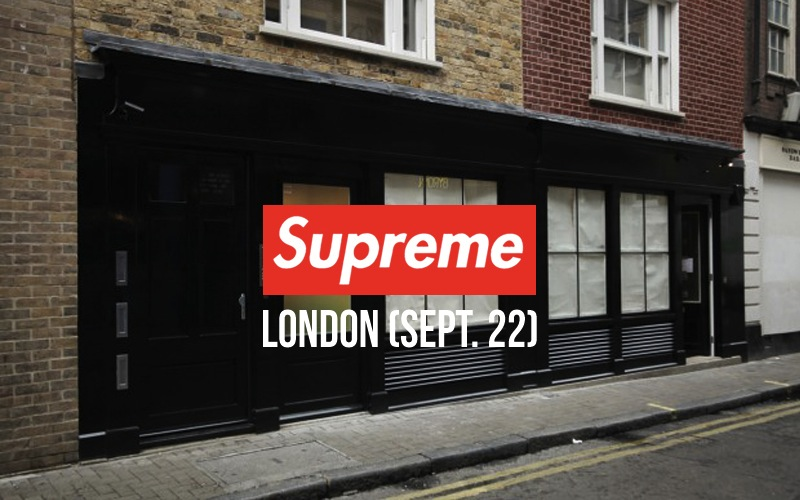 supreme london store september 22 grand opening