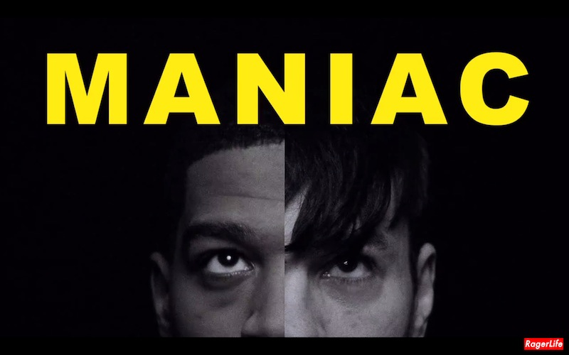 Maniac Short Film Directed by Shia LeBeouf Starring Kid Cudi and Cage Title