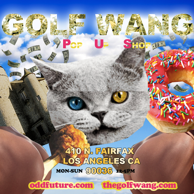 Odd Future Golf Wang Pop Up Shop Fairfax Los Angeles Tyler Supreme
