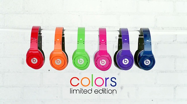 Beats by Dr Dre Colors Limited Edition Red Orange Green Pink Purple Blue