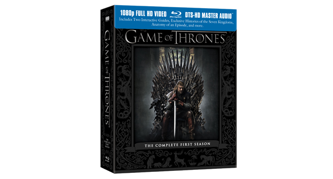 Game of Thrones Season 1 Blu Ray Cover Art