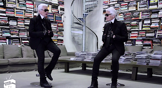 Face to Face Karl Lagerfeld Interviews Himself