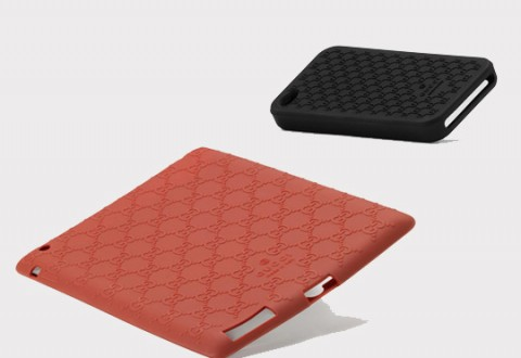 Gucci Silicone iPhone & iPad Case Brown