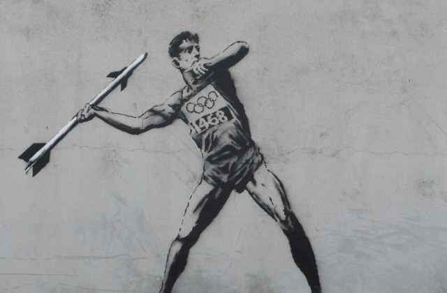 banksy olypics rocket thrower